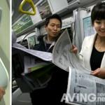 Neuer E-Reader - Folie von LG stellten Zeitungen dar